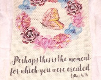 Perhaps this is the moment Burlap Print Personalized Gift of Encouragement