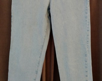 """Vintage CK """"Calvin Klein"""" Jeans Easy Fit, High Waist with Tapered Leg Size 10"""