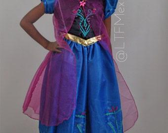 Princess Anna Costume / Princess Anna Dress / Anna Princess Birthday dress / Vestido de Princesa Anna/ Disney Princess Anna /Girls Dresses/