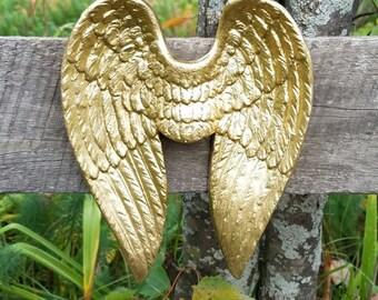 Angel Wings Wall Decor /  Angel Wings / Gold Angel Wings /  Nursery Wall Decor / SHABBY CHIC Angel Wings / Guardian Angel Decor/ Angel Decor