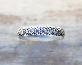 Silver Ring, sterling silver snake ring dragon ring dragonscale, Khaleesi ring