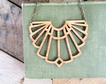 Art Deco Necklace / Statement / Modern Jewelry
