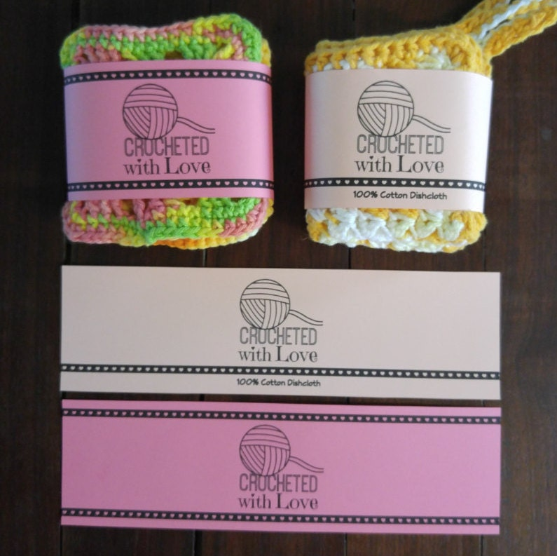 It is an image of Gutsy Printable Crochet Labels