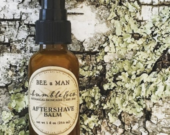 Aftershave Balm | Men's Shaving Gift | Herbal Aftershave | BEE a MAN aftershave balm | Men's Aftershave Lotion | Natural Aftershave Balm