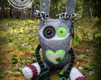 RAWR Sock Creature – Green