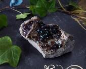Fluorite Crystal - Natural Iridescent Rainbow Fluorite - Dark Purple Fluorite Cluster - Iridescent Fluorite Stoneco Auglaize Quarry Ohio