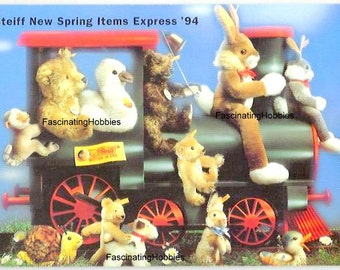1994 - STEIFF New Spring Items EXPRESS - early arrivals different kinds of Animals STEIFF world - Mint leaflet catalogue, numerous pictures