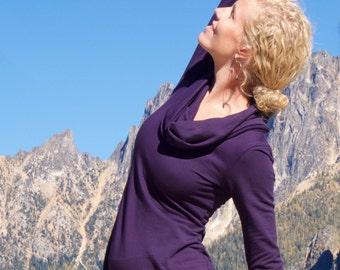 Organic Tunic Dress - Terry Cowl Dress - long sleeve