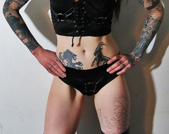 Hell Couture Spellcaster O Ring Tanktop & Panties Set