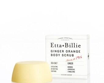 Ginger Orange Sea Salt Scrub Bar Organic Ingredients