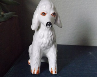 Vintage Bone China Poodle Figurine