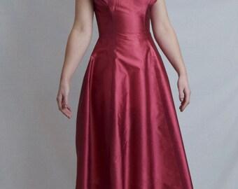 1950's Metallic Raspberry Dress