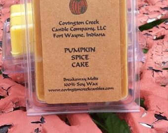 Pumpkin Spice Cake  Pure Soy Covington Creek Candle Company  Breakaway Melt.