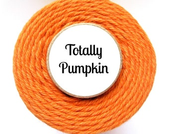 Solid Orange Bakers Twine by Trendy Twine - Totally Pumpkin - Craft, Packaging, Cotton String, Favors, Baking, Thanksgiving, Fall, Autumn