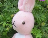 Rabbit Pink Fleece Toy,Pink and White Fleece Animal Toy,Cool Toy for Tots,Toy for Toddlers,Shower Basket Filler,Special Rabbit Toy,Bunny Toy