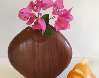 ABSTRACT VASE Vessel WOODCARVED, Mid Century, Modernist, Handmade Wood Carving Vase at Modern Logic