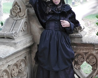 Victorian Long Skirt, Steampunk Gothic, Custom Size