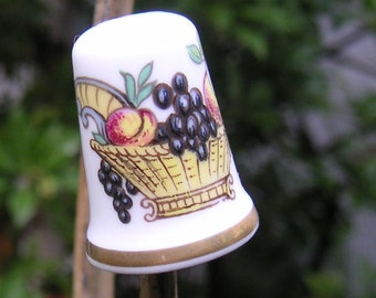 Vintage Thimble Fruit Basket by Crown Staffs England
