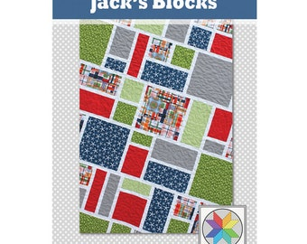 Jack's Blocks - a PDF Quilt Pattern (Crib, Throw, Twin & Queen)