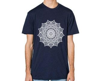 Mandala T Shirt, Womens Clothing, Womens Tshirt, American Apparel Tshirt, Mandala Shirt, Mandala Top, Mandala Art