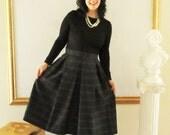 Black Watch Plaid Pleated Skirt Navy and Black Plaid Skirt