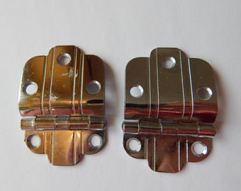 Chrome Cabinet Hinges, Silver, Retro 1950's Kitchen, Offset Cabinet Hinges, Retro Remodel, Kitchen Cabinet Hinges