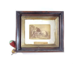Vintage Framed Horse Print, Equestrian Decor, Victorian Wall Decor