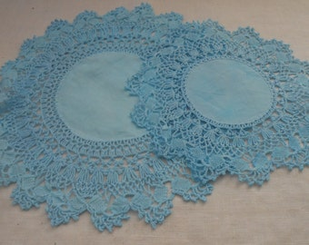 Two (2) Doilies with Crochet Edging