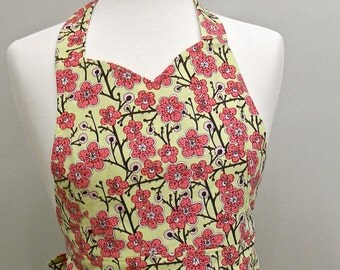 Pink and Green Women's Full Apron