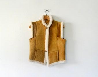 Vintage Shearling Vest Tibetan Style - Cindy Spolek Design