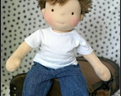 15in Waldorf Inspired Doll by Jemilynndolls RESERVED for Donna