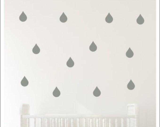 Raindrop Decals Peel and Stick Raindrops Baby Nursery Decals Raindrop Wall Decals Set of Raindrops Nursery Decor Raindrops Baby Nursery Wall