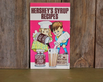 Hershey's Syrup Recipes Note Paper Pad Mid Century Baking Vintage 1970s 70s (L)