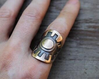 Bronze Luminous Eye ring