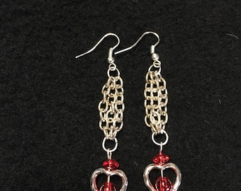Dangling Heart Earrings, Cheri's Gifts and Treasures .