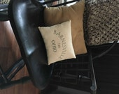 Custom City and State Pillow with area code