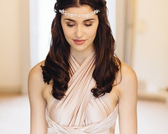 Rose Gold Florrie Lace and Crystal Headband