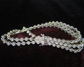 14k Diamond Bracelet Three Strand Diamonds White Gold Fourteen Karat  Statement