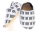 Piano Baby Boy Shoes, 6-12 mos Baby Booties, Baby Soft Shoes, Slip On Baby Shoes, Baby Boy Gift