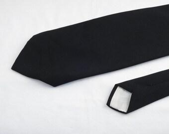 Vintage Velducci Men's Tie, Black