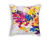 Pastel pillow cover Cushion case Abstract art pillow cover Dots painting Colorful decorative pillows Fine art print cushion cover 18x18