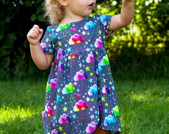 Rainbow Rain Wrap Skirt Dress