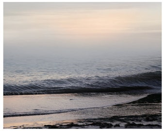Sea art, water landscape print, abstract ocean photography, large wall art, Coastal art, purple seascape, oversized art, 24x30, 16x20 print