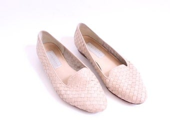 Simple Woven Leather Flats