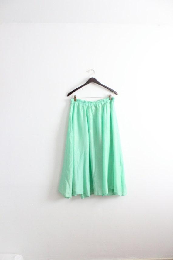 lime green floaty midi skirt