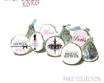PARIS Bridal Shower kisses stickers -  Stickers for Hershey's Kisses® Chocolate -  Parisian Theme