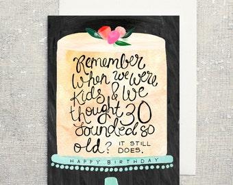 Birthday Card 30th: Blank Inside