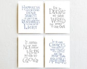 Harry Potter Nursery Decor - Albus Dumbledore Quote, Inspirational Art print, Toddler Kids Room Wall Art, Baby Boy Nursery Baby Shower Gift