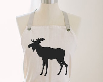 Moose Apron, present, housewarming gift, kitchen decor