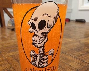 Skeleton Pint Glass - Illustration and Design by C. Spliedt